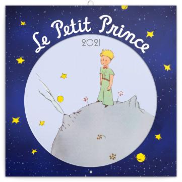 Poznámkový kalendár Malý princ 2021, 30 × 30 cm