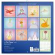 Poznámkový kalendár Malý princ 2022, 30 × 30 cm