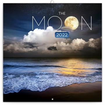 Poznámkový kalendář Měsíc 2022, 30 × 30 cm