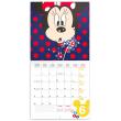 Poznámkový kalendár Minnie 2021, s 50 samolepkami, 30 × 30 cm