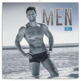 Poznámkový kalendár Muži 2021, 30 × 30 cm