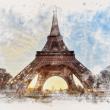 Poznámkový kalendář Paříž 2022, 30 × 30 cm
