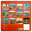 Poznámkový kalendár Praha letná 2022, 30 × 30 cm