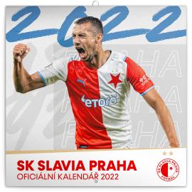 Poznámkový kalendár SK Slavia Praha CZ 2022, 30 × 30 cm