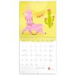 Poznámkový kalendář Šťastné lamy 2022, 30 × 30 cm
