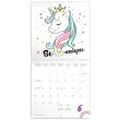 Poznámkový kalendář Šťastní jednorožci 2022, 30 × 30 cm