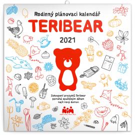 Rodinný kalendár TERIBEAR 2021, 30 × 30 cm