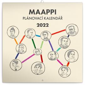 Rodinný plánovací kalendár Maappi 2022, 30 × 30 cm