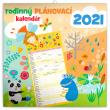 Rodinný plánovací kalendár SK 2021, 30 × 30 cm