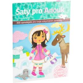 Šaty pro Anouk - kniha samolepiek