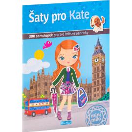 Šaty pro KATE - kniha samolepiek
