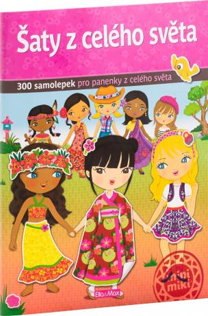 Šaty z celého světa - kniha samolepiek