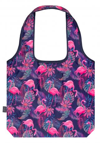 Skladacia nákupná taška Plameniaky
