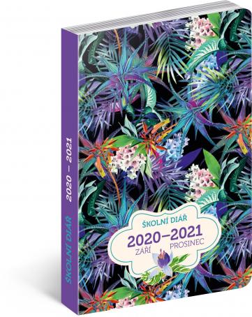 Školní diár Džungľa (september 2020 – december 2021), 9,8 × 14,5 cm