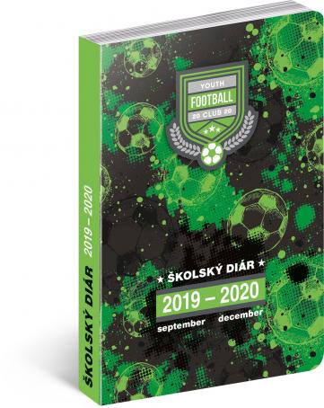 Školský diár Futbal SK (september 2019 – december 2020), 9,8 x 14,5 cm