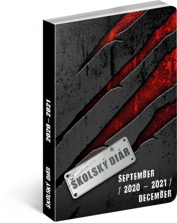 Školský diár Láva SK (september 2020 – december 2021), 9,8 × 14,5 cm