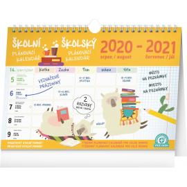 Školský plánovací kalendár s háčikom CZ/SK 2021, 30 × 21 cm