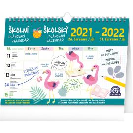Školský plánovací kalendár s háčikom CZ/SK 2022, 30 × 21 cm