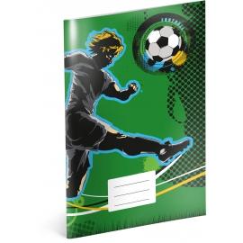 Školský zošit Futbal, A4, 40 listov, linajkovaný