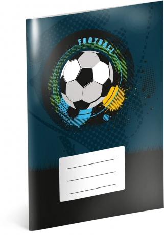 Školský zošit Futbal, A5, 40 listov, čistý