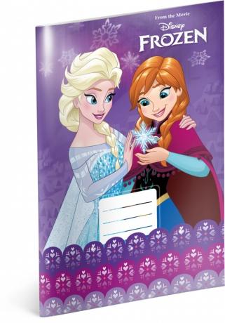 Školský zošit Frozen – Ľadové kráľovstvo Violet, A4, 20 listov, linajkovaný