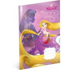 Školský zošit Princezné – Rapunzel, A4, 20 listov, linajkovaný