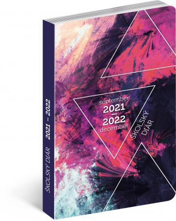 Školský diár Abstrakt (september 2021 – december 2022), 9,8 × 14,5 cm