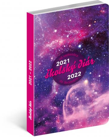 Školský diár Galaxy (september 2021 – december 2022), 9,8 × 14,5 cm