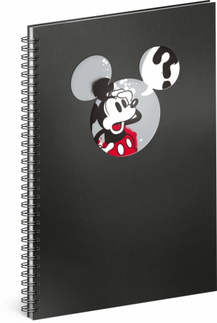 Špirálový blok Mickey – Question, linajkovaný, A4