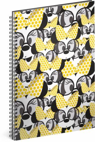Špirálový blok Minnie – Yellow, linajkovaný, A4