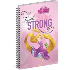 Špirálový blok Princezné – Strong, A5, čistý