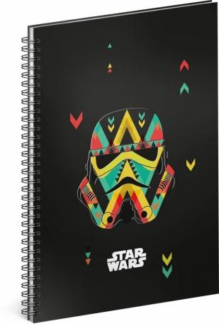 Špirálový blok Star Wars – Black, linajkovaný, A5