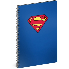 Špirálový blok Superman – Blue, linajkovaný, A4