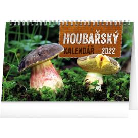 Stolový Hubársky kalendár SK 2022, 23,1 × 14,5 cm