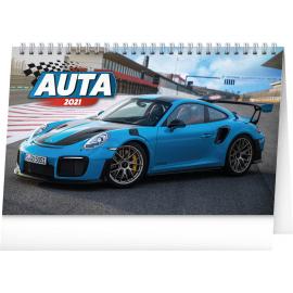 Stolový kalendár Autá 2021, 23,1 × 14,5 cm