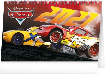 Stolový kalendár Auta 3 2021, 23,1 × 14,5 cm