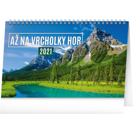 Stolový kalendár Až na vrcholky hor 2021, 23,1 × 14,5 cm