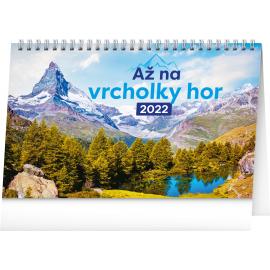 Stolový kalendár Až na vrcholky hor 2022, 23,1 × 14,5 cm