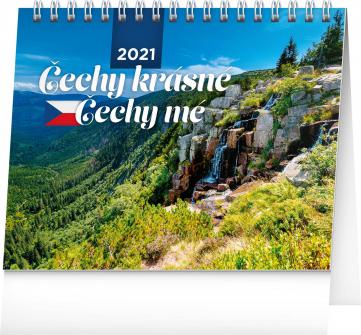 Stolový kalendár Čechy krásné, Čechy mé 2021, 16,5 × 13 cm
