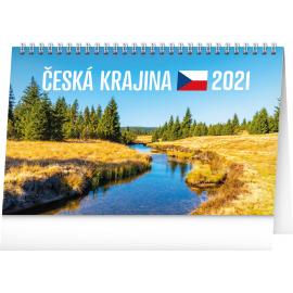Stolový kalendár Česká krajina 2021, 23,1 × 14,5 cm