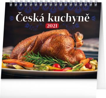 Stolový kalendár Česká kuchyňa 2021, 16,5 × 13 cm