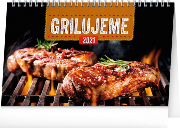 Stolový kalendár Grilujeme 2021, 23,1 × 14,5 cm