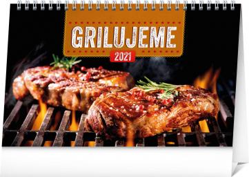 Stolový kalendár Grilujeme SK 2021 , 23,1 × 14,5 cm