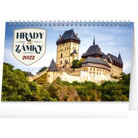 Stolový kalendár Hrady a zámky 2022, 23,1 × 14,5 cm