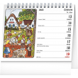 Stolový kalendár Josef Lada – Deti 2022, 16,5 × 13 cm