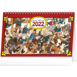 Stolový kalendár Josef Lada – Na dedine 2022, 23,1 × 14,5 cm
