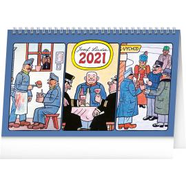 Stolový kalendár Josef Lada – Švejk 2021, 23,1 × 14,5 cm