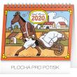 Stolní kalendář Josef Lada – Zvířátka CZ 2020, 16,5 x 13 cm