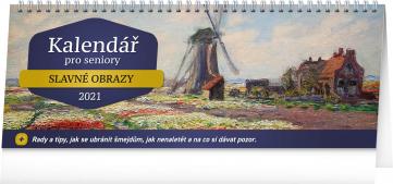 Stolový kalendár pre seniorov 2021, 33 × 12,5 cm