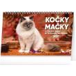 Stolový kalendár Kočky – Mačky CZ/SK 2021, 23,1 × 14,5 cm